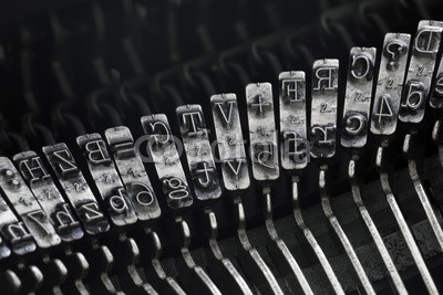 Fotoboard na płycie - Close up of vintage typewriter letters