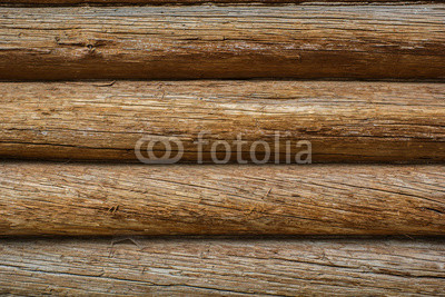 Fotoboard na płycie - Wood texture background, wooden beams and the wall of a village house